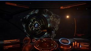 Ein Blick auf die Raumstation in Lave